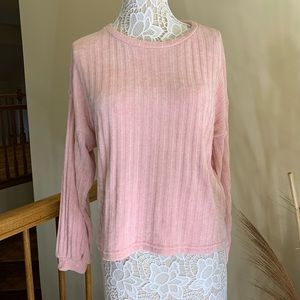 Bershka woman's knitwear sweater pink size L
